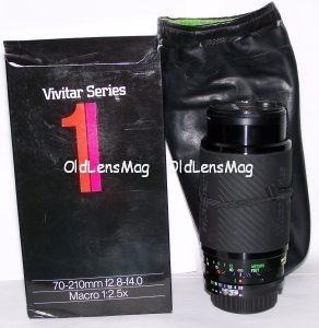 Vivitar Series 1 70-210/2.8-4 VMC под Nikon, полный родной комплект